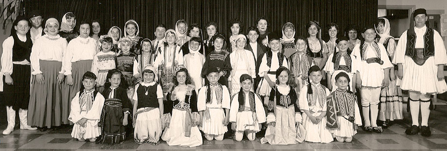 STUDENTS IN HISTORIC COSTUME. 1961.